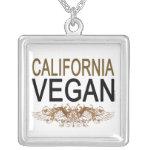 California Vegan Square Pendant Necklace