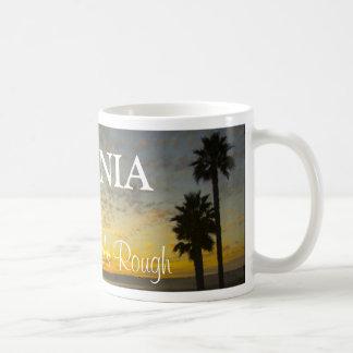 California - vida áspera tazas de café
