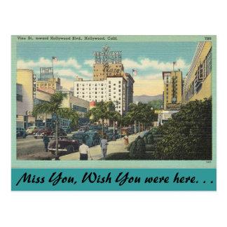 California, Vine Street, Hollywood Postcard