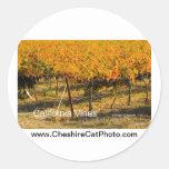 California Vines (4698) California Products Classic Round Sticker