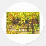 California Vines California Products Classic Round Sticker