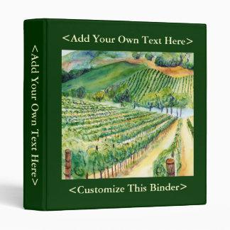 California Vineyard Binder