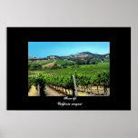 """""""California vineyard"""" poster"""