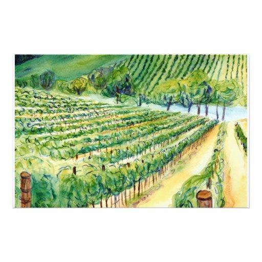 California Vineyard Stationery