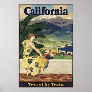 California Vintage American Travel Poster