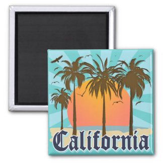 California Vintage Souvenir 2 Inch Square Magnet