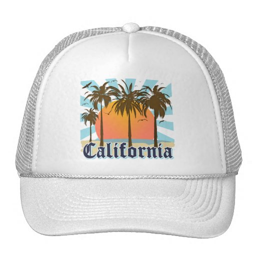 California Vintage Souvenir Trucker Hats