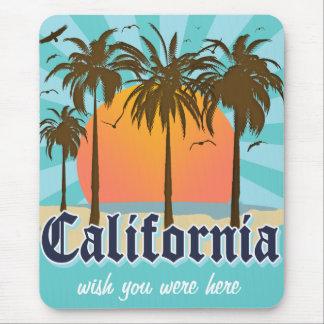 California Vintage Souvenir Mouse Pad