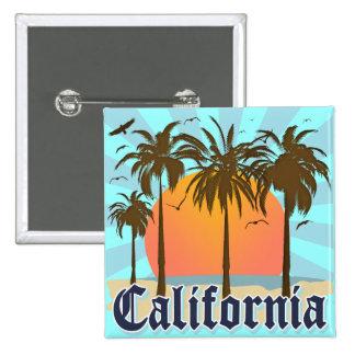 California Vintage Souvenir Pinback Button
