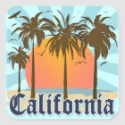 California Vintage Souvenir Square Sticker