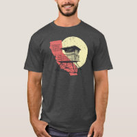 California Vintage Style Lifeguard Tower T-Shirt