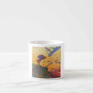 California Vintage Travel Poster Espresso Cups