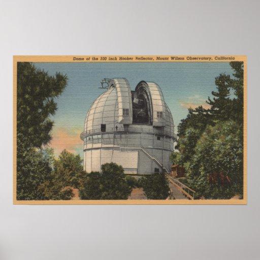 California - vista de la bóveda del Monte Wilson Posters