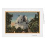 California - vista de la bóveda del Monte Wilson Tarjetón