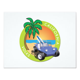 California Volks Dune Buggy with Palms Card