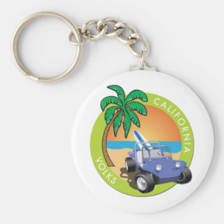 California Volks Dune Buggy with Palms Keychain