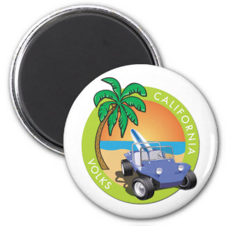 California Volks Dune Buggy with Palms Magnets