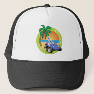 California Volks Dune Buggy with Palms Trucker Hat