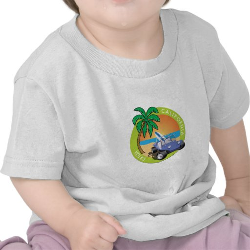 California Volks Dune Buggy with Palms Shirt