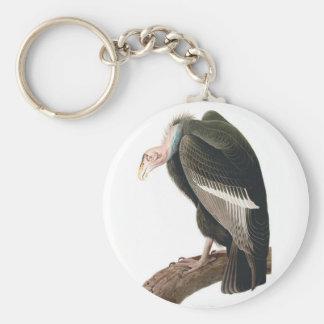California Vulture (Condor), Audubon Fine Art Basic Round Button Keychain