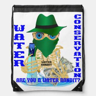 California Water Bandit English Marathon Drawstring Bags