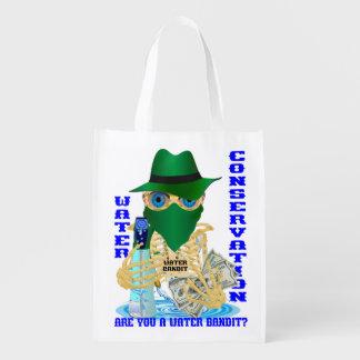 California Water Bandit English Reusable Grocery Bag
