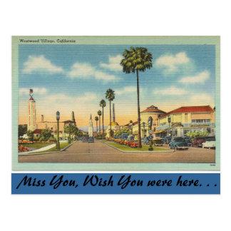 California, Westwood Village Postcards
