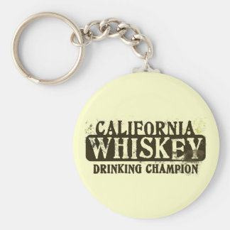 California Whiskey Drinking Champion Key Chain