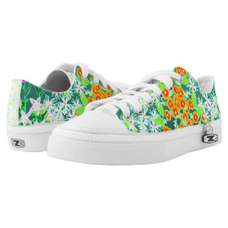 California Wildflower Print by Aleta Low-Top Sneakers