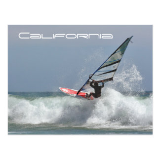 California Wind Surfer Postcard