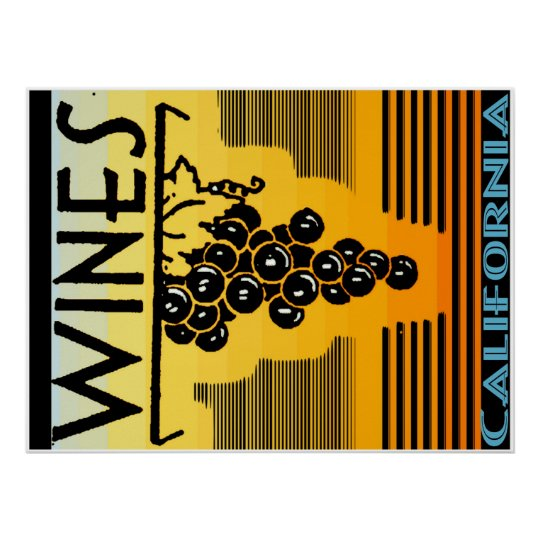 california wine canvas poster