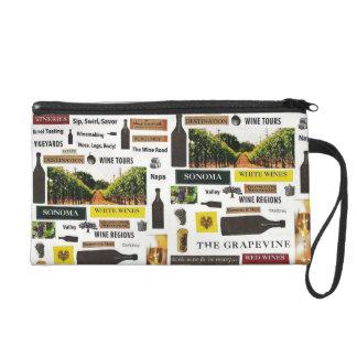 California Wine Country Wristlet Purse Clutch Bag