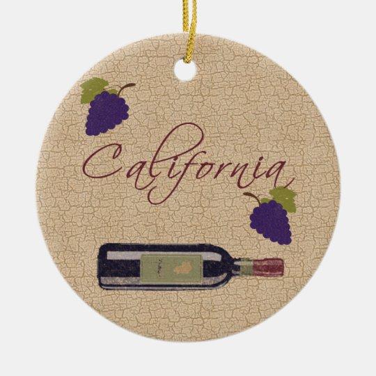 California Wine Ornament