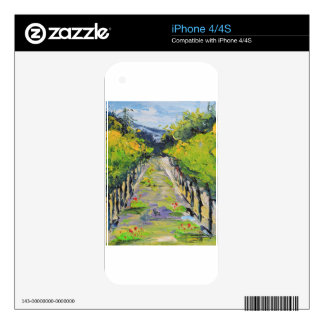 California winery, summer vineyard vines in Carmel Decals For iPhone 4S