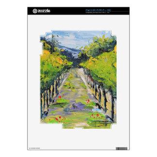 California winery, summer vineyard vines in Carmel iPad 2 Skins