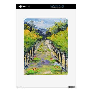 California winery, summer vineyard vines in Carmel iPad Decals