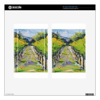 California winery, summer vineyard vines in Carmel Kindle Fire Skins