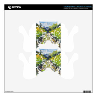 California winery, summer vineyard vines in Carmel PS3 Controller Decal
