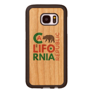 California With Grizzly Bear Logo Wood Samsung Galaxy S7 Case