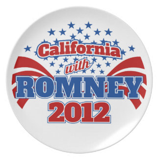 California with Romney 2012 Melamine Plate