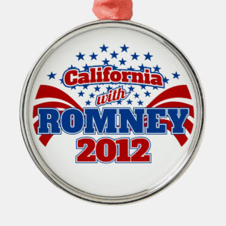California with Romney 2012 Metal Ornament