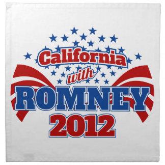 California with Romney 2012 Napkin