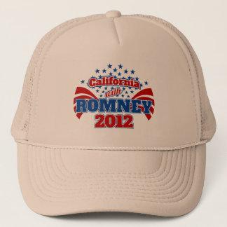 California with Romney 2012 Trucker Hat