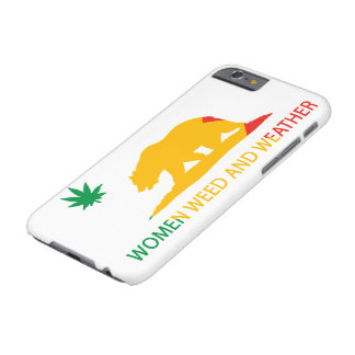 California Women Weed and Weather Flag Barely There iPhone 6 Case