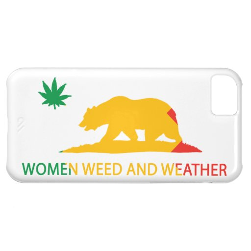 California Women Weed and Weather Flag iPhone 5C Covers