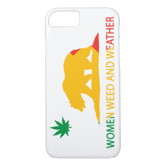California Women Weed and Weather Flag iPhone 7 Case
