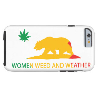 California Women Weed and Weather Flag Tough iPhone 6 Case