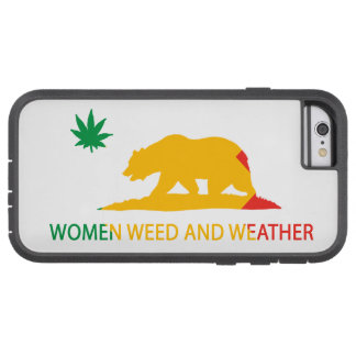 California Women Weed and Weather Flag Tough Xtreme iPhone 6 Case