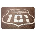 California y carretera de los E.E.U.U. 101 Imán Rectangular