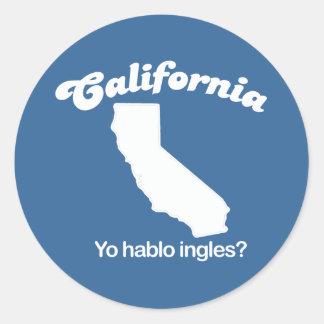 California - Yo hablo ingles T-shirt Classic Round Sticker